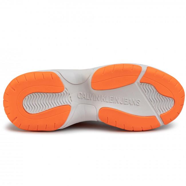Sneakers Calvin Klein Jeans - Maya R0802 White/orange Fluo Scarpe Basse f31xA