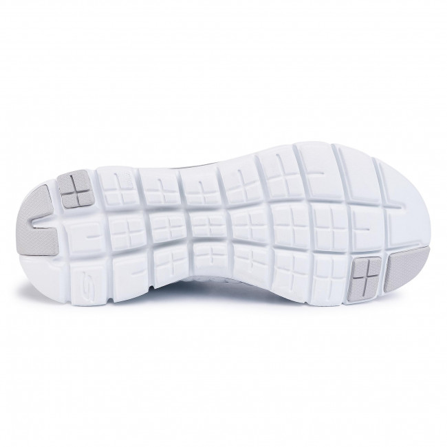 Scarpe SKECHERS - 12757/WSL White/Silver - Fitness - Scarpe sportive - Donna