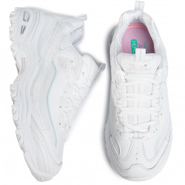 Sneakers SKECHERS - D\'Lites Sparkling Rain 149060/WLPK White/Light Pink - Sneakers - Scarpe basse - Donna
