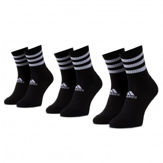 Set di 3 paia di calzini lunghi unisex adidas - 3s Csh Crw3p DZ9347 Black/Black/Black