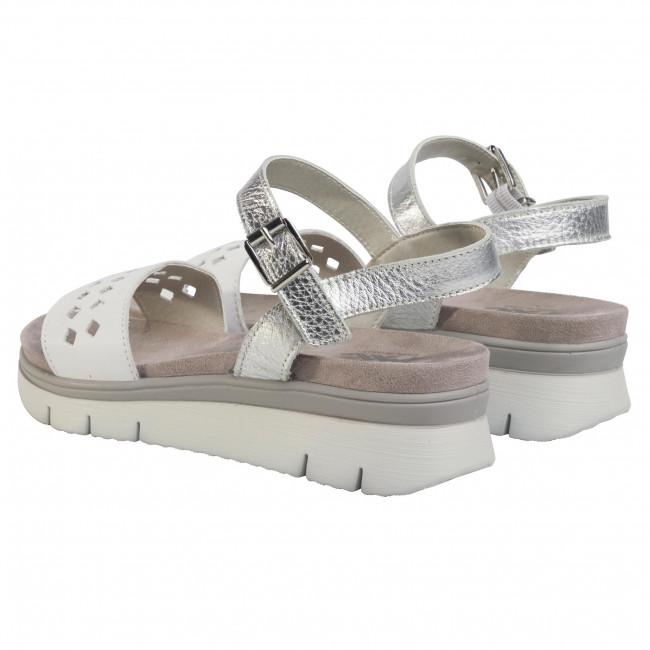 Sandali IMAC - 509191 White/Grey 1405/018 - Zeppe - Ciabatte e sandali - Donna