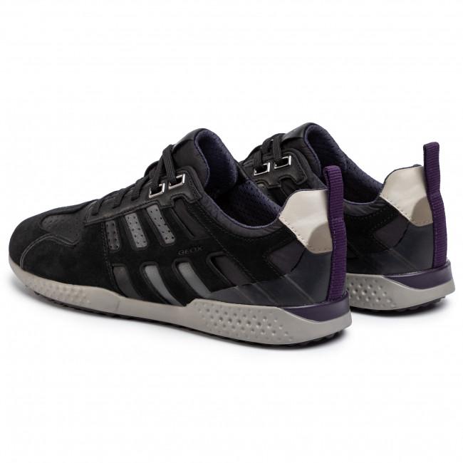 Sneakers GEOX - U Snake.2 A U948DA 022FU C9310 Black/Stone - Sneakers - Scarpe basse - Uomo