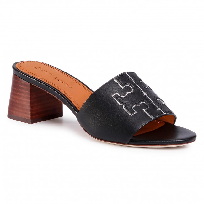 Ciabatte TORY BURCH - Ines 55mm Slide 66261 Perfect Black/Silver 043