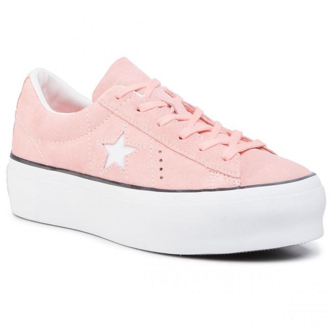 Sneakers CONVERSE One Star Platform Ox Bleached CoralBlackWhite