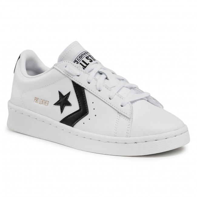 Sneakers CONVERSE - Pro Leather Ox 167237C White/Black/White