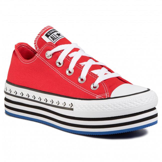 Scarpe da ginnastica CONVERSE - Ctas Platform Layer Ox 566763C University Red/White/Black