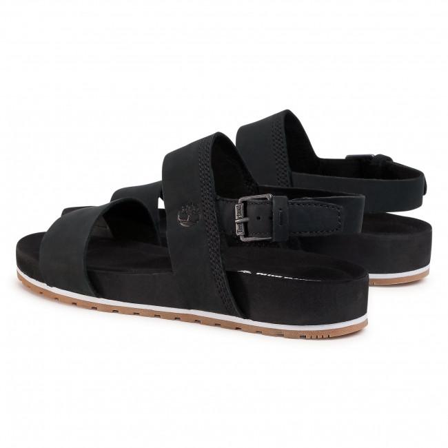 Sandali TIMBERLAND - Malibu Waves 2Band Sandal TB0A2AT9001 Black Nubuck - Sandali da giorno - Sandali - Ciabatte e sandali - Donna