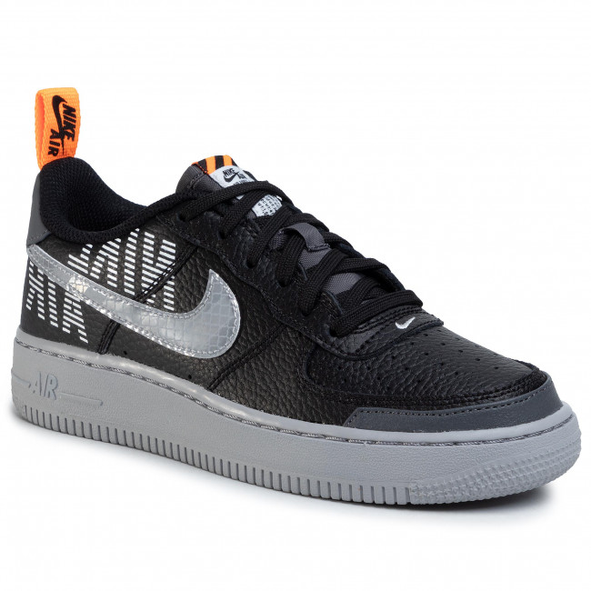 Scarpe NIKE Air Force 1 LV8 2 (GS) BQ5484 001 BlackWolf GreyDark Grey