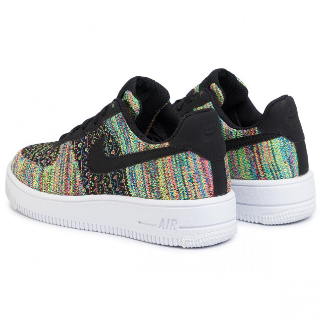 Scarpe NIKE Air Force 1 Flyknit 2.0 (Gs) BV0063 002 BlackBlackHyper PinkVolt