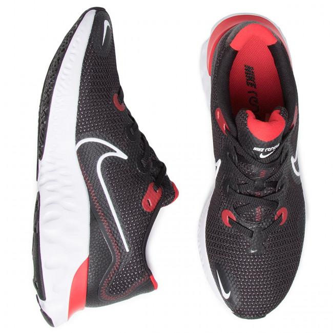 Scarpe NIKE - Renew Run CK6357 005 Black/White/University Red - Scarpe da allenamento - Running - Scarpe sportive - Uomo