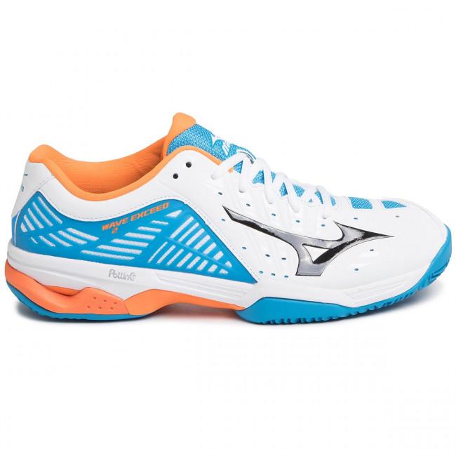 Scarpe MIZUNO - Wave Exceed 2 Cc 61GC182227 Bianco Multicolore - Tennis - Scarpe sportive - Uomo