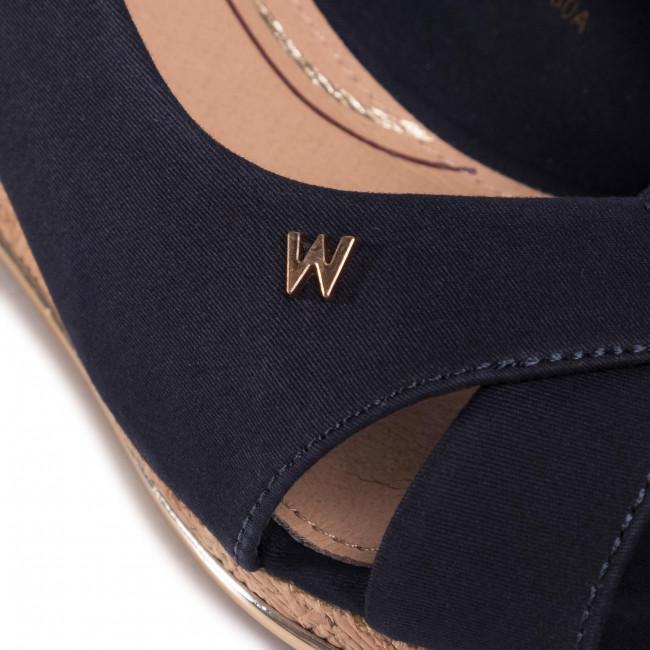 Sandali WRANGLER - Panama Mila' WL01530A Navy 016 - Zeppe - Ciabatte e sandali - Donna