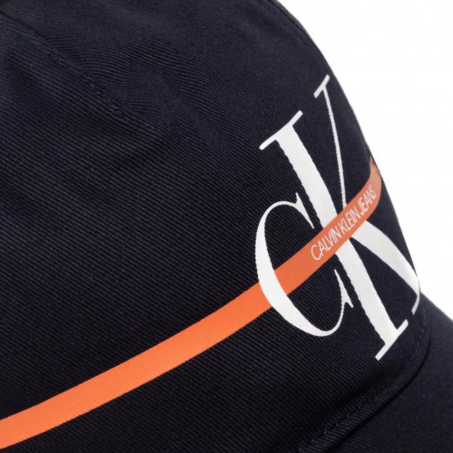 Cappello con visiera CALVIN KLEIN JEANS - Monogram Stripe Bb Cap IU0IU00101 CIK - Donna - Cappelli - Accessori tessili - Accessori