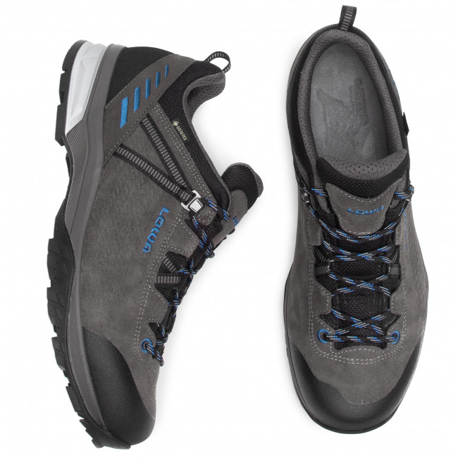 Scarpe da trekking LOWA - Ledro Gtx Lo GORE-TEX 210717 Anthrazit/Blau 9743 - Scarpe da trekking e scarponcini - Scarpe basse - Uomo