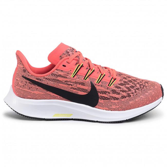 Scarpe NIKE - Air Zoom Pegasus 36 GS AR4149 619 Laser Crimson/Black - Scarpe da allenamento - Running - Scarpe sportive - Donna
