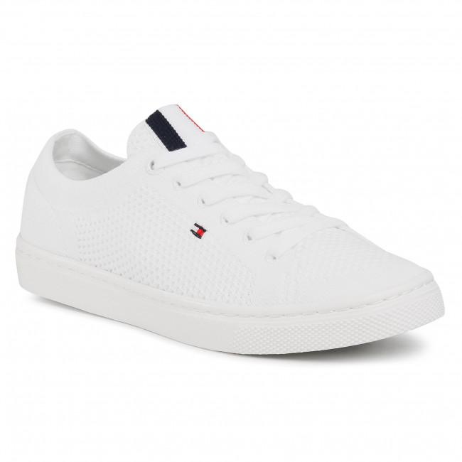 Scarpe sportive TOMMY HILFIGER - Lightweght Casual Sneaker FW0FW05007 White YBR
