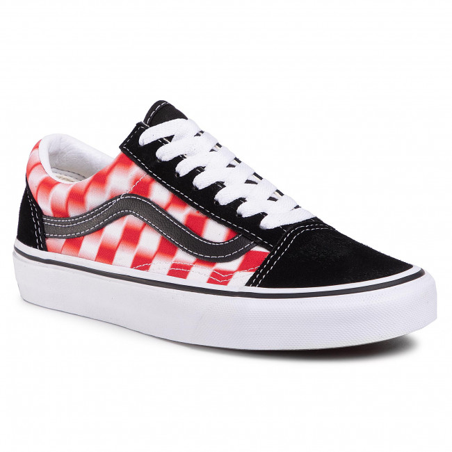 Scarpe sportive VANS - Old Skool VN0A4U3B17Z1 (Blur Check) True Wht/Red