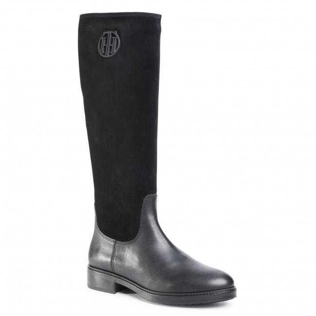 Stivali al ginocchio TOMMY HILFIGER - Moder Tommy Long Boot FW0FW05163 Black BDS