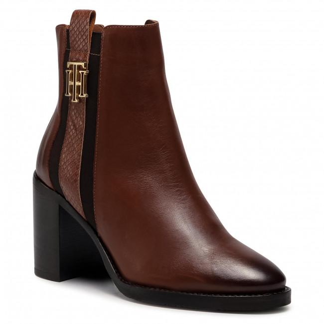 Tronchetti TOMMY HILFIGER - Th Interlock High Heel Boot FW0FW05192 Pumpkin Paradise GOW