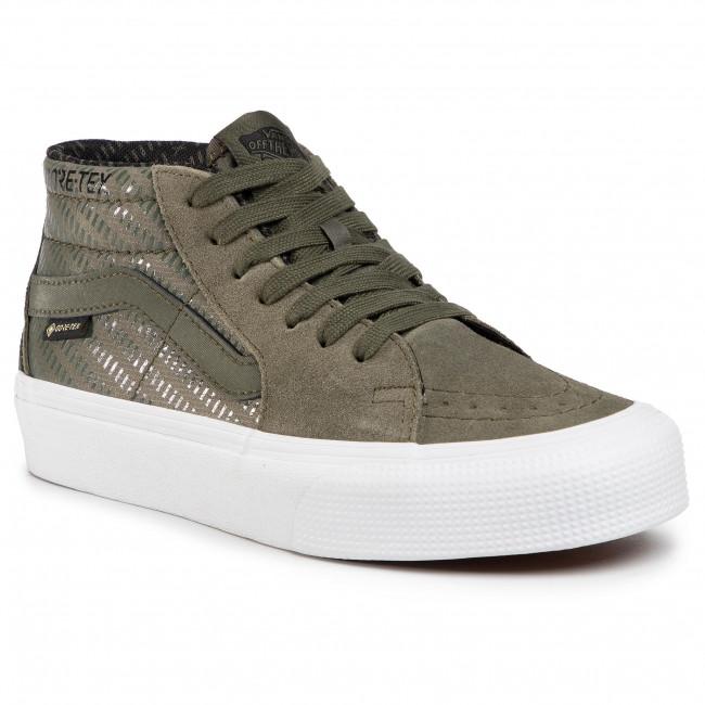 Sneakers VANS - Sk8-Mid GORE-TEX VN0A4VJE24U1 (Gore-Tex)Grapeleaf/Trwht