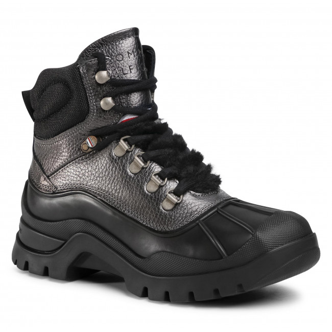 Tronchetti TOMMY HILFIGER - Outdoorsy Tommy Metallic Boot FW0FW05209 0IP