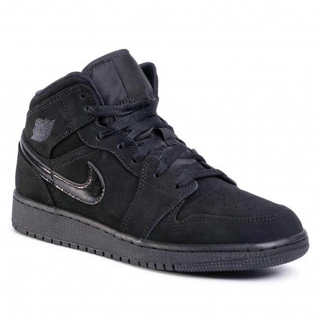 Scarpe NIKE Air Jordan 1 Mid 554725 056 BlackBlackBlack