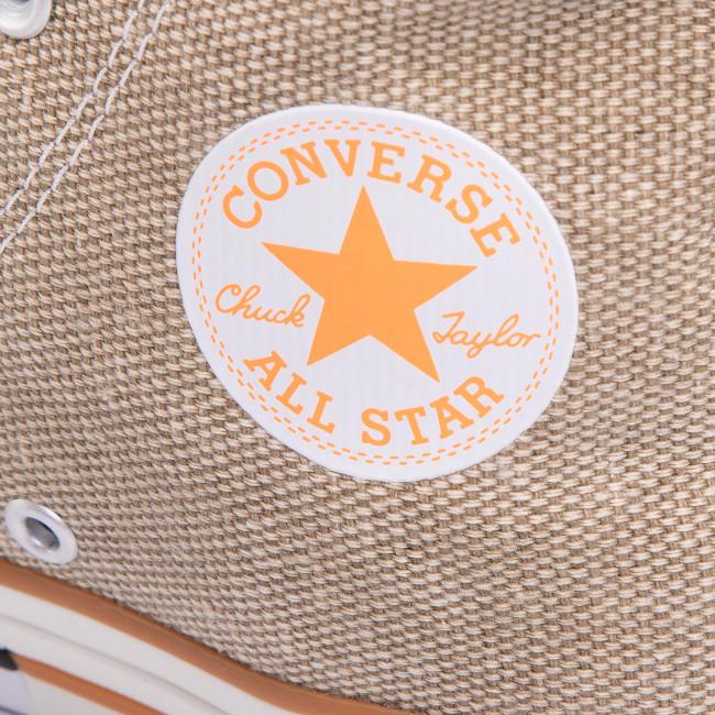 Scarpe da ginnastica CONVERSE - Ctas Hi 167658C Khaki/Total Orange/White - Scarpe da ginnastica - Scarpe basse - Donna