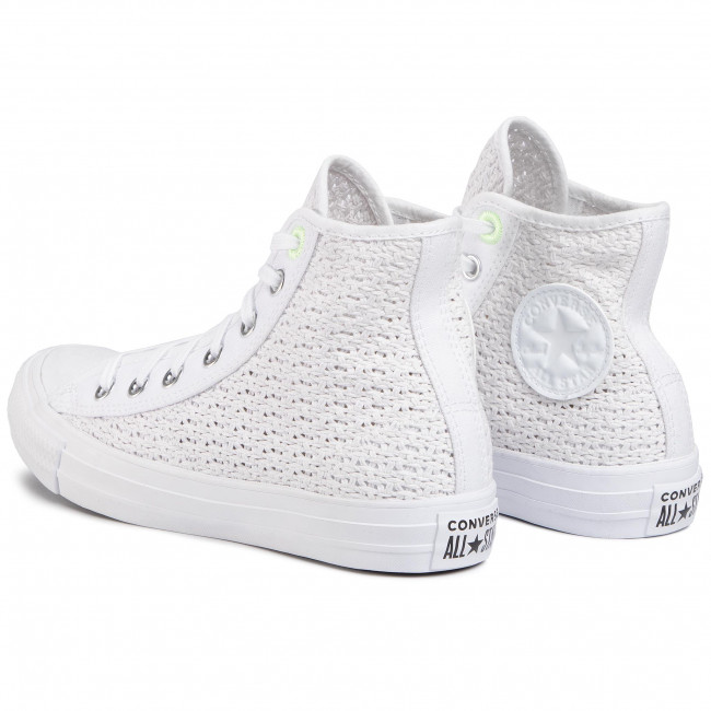 Converse all star sneakers alte bambini ctas hi volt white