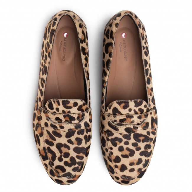 Loafers CLARKS - Un Blush Go 261461424 Leopard Prt Pony - Loafers - Scarpe basse - Donna