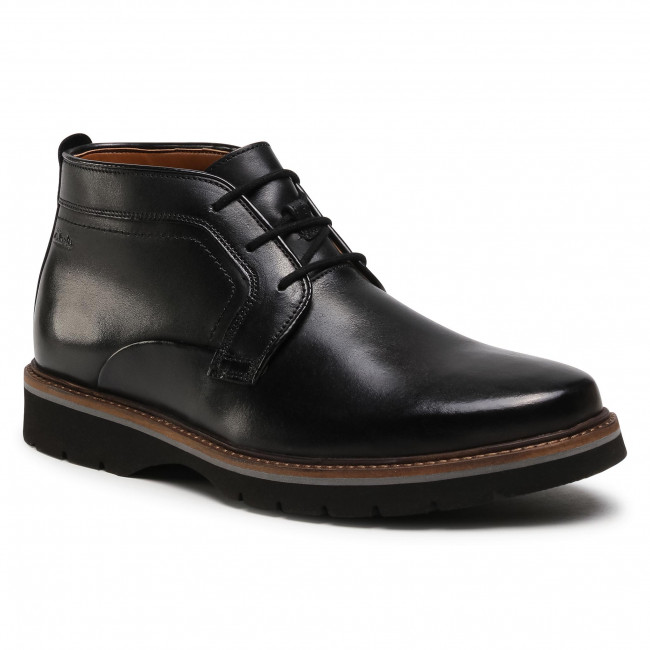 Polacchi CLARKS - Bayhill Mid 261545937 Blk Smooth Leather