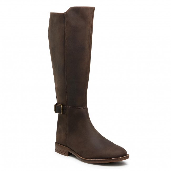 Stivali al ginocchio CLARKS - Camzin Branch 261530574 Dark Brown Leather