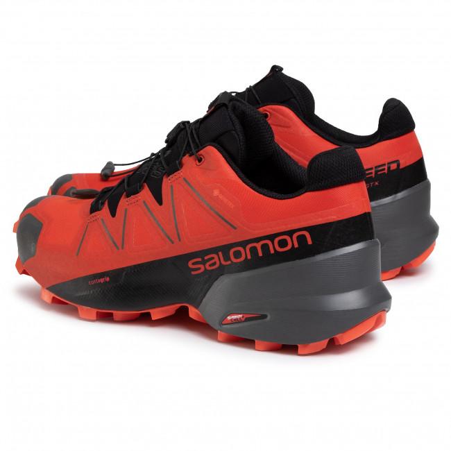 Scarpe SALOMON - Speedcross 5 Gtx GORE-TEX 407965 Valiant Poppy/Black/Cherry Tomato - Trail running - Running - Scarpe sportive - Uomo