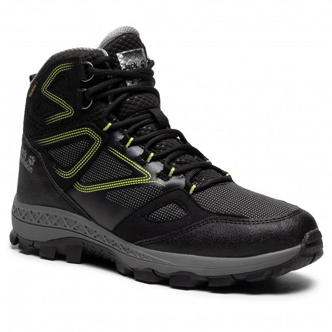 Scarpe da trekking JACK WOLFSKIN - Downhill Texapore Mid M 4043871 Black/Lime