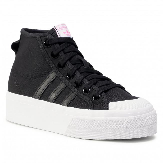 Scarpe adidas - Nizza Platfrom Mid W FY7579 Cblack/Ftwwht/Scrpnk