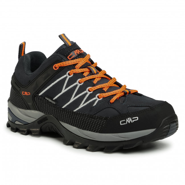 Scarpe da trekking CMP - Rigel Low Trekking Shoes Wp 3Q13247 Antracite/Flash Orange 56UE