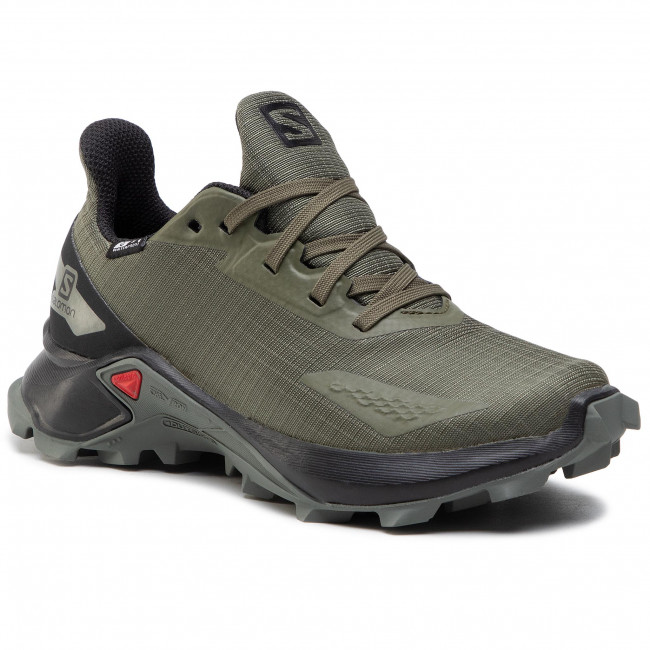 Scarpe SALOMON - Alphacross Blast Cswp J 411230  10 V0 Olive Night/Black/Castor Gray