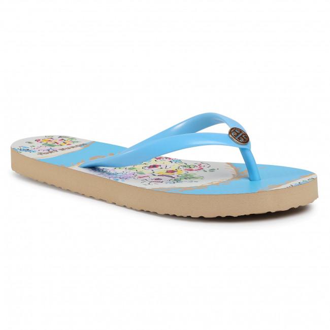 Infradito TORY BURCH - Thin Flip Flop 56488 Porcelain Blue/Blue Porcelain Floral 402