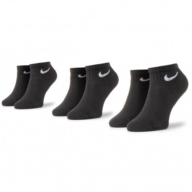 Set di 3 paia di calzini corti unisex NIKE - SX7667-010 Nero