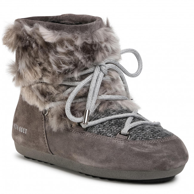 Stivali da neve MOON BOOT - Dk Side Low Wool Fur 24300700 Grey