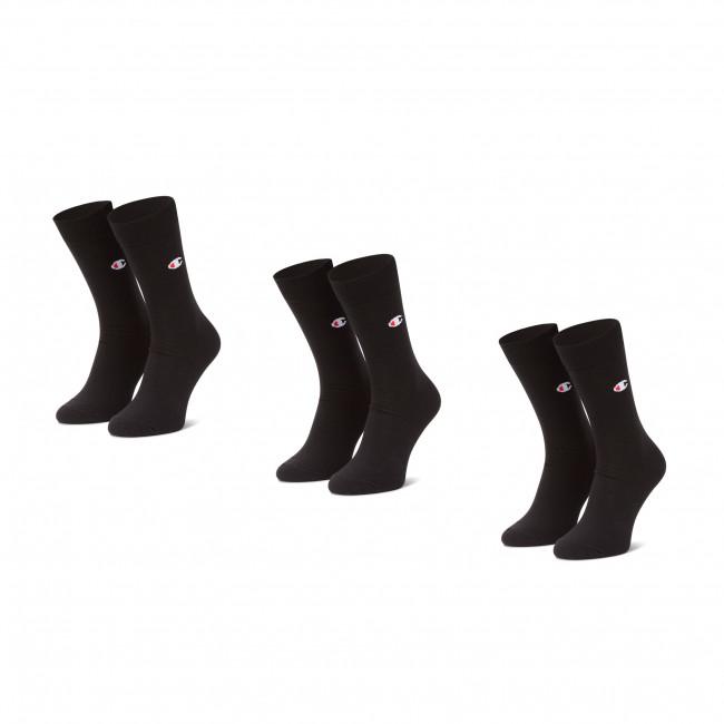 Set di 3 paia di calzini lunghi da uomo CHAMPION - CH0008ST-8VA  Black