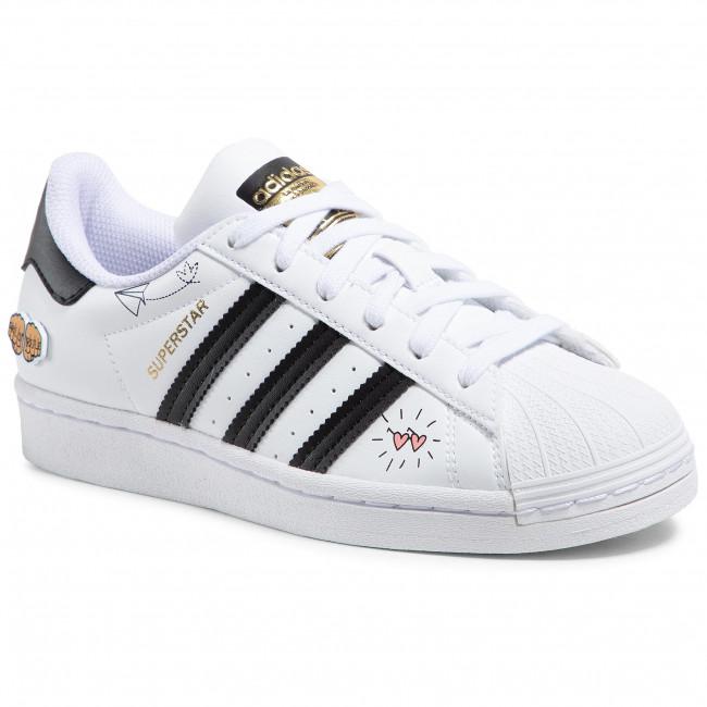 Scarpe adidas - Superstar J FX5202 Ftwwht/Black/Goldmt