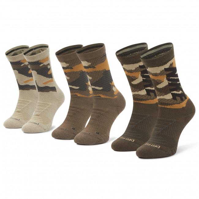 Set di 3 paia di calzini lunghi unisex NIKE - CW0780 903 Multicolore Verde
