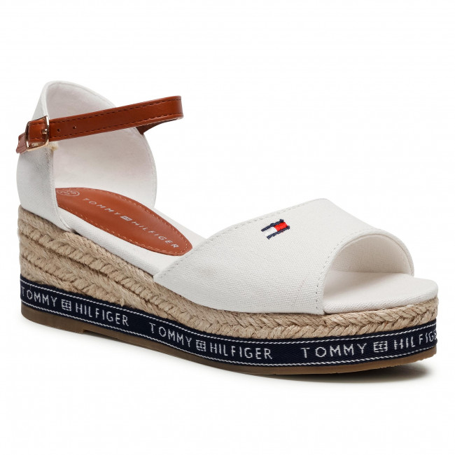 Espadrillas TOMMY HILFIGER - Rope Wedge Sandal T3A2-31056-0048 Off White 113