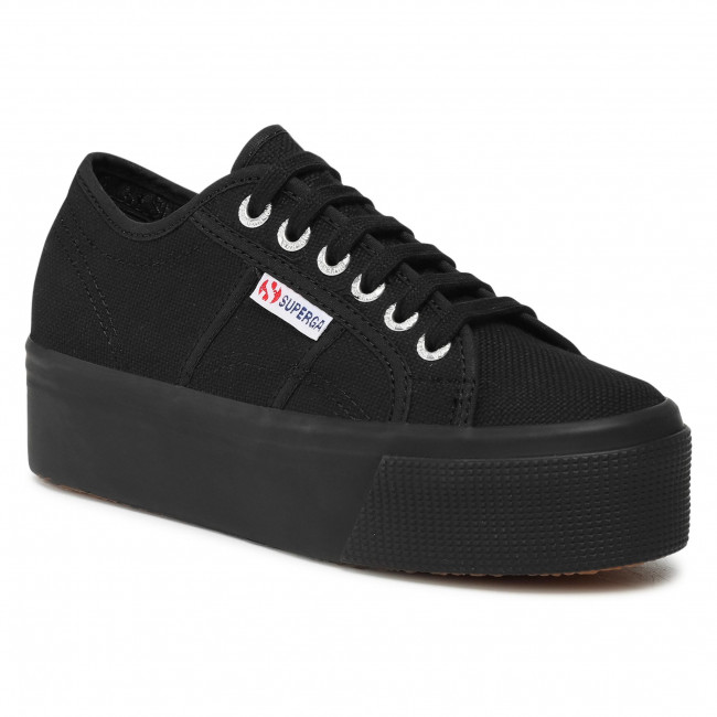Scarpe sportive SUPERGA - 2790 Cotw Linea Up And Down S9111LW Full Black 996