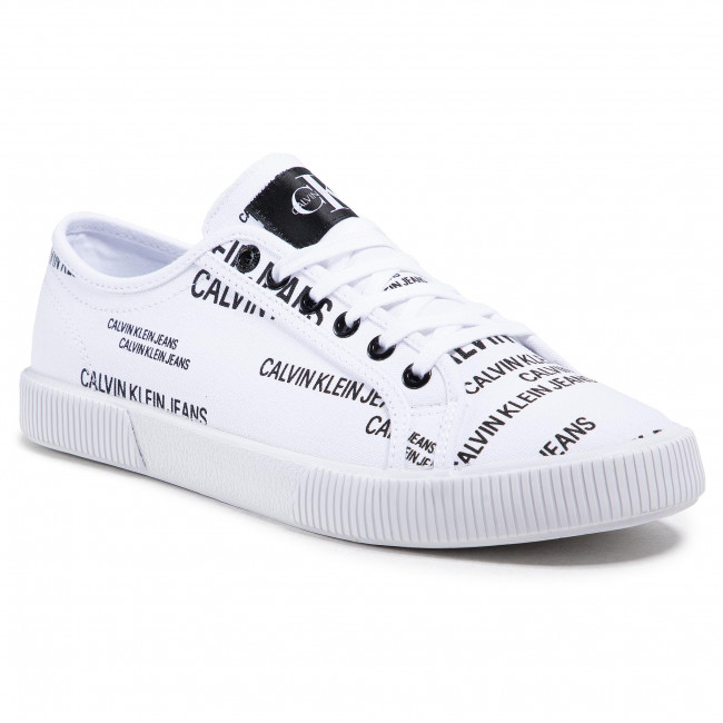Scarpe sportive CALVIN KLEIN JEANS - Vulcanized Sneaker Laceup Aop Co YM0YM00077 Bright White YAF