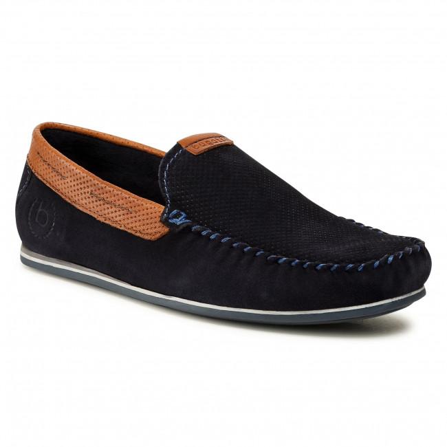 Mocassini BUGATTI - 325-89960-1440-4163 Dark Blue/Cognac