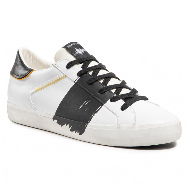 Sneakers CRIME LONDON - Low Top Distressed 11450PP3.10 Bianco
