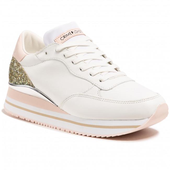 Sneakers CRIME LONDON - Stripe Runner 25704PP3.10 Bianco