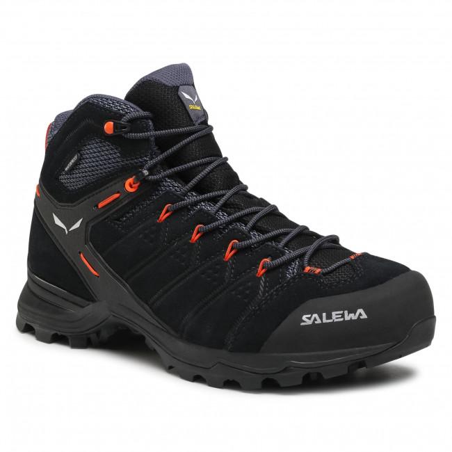 Scarpe da trekking SALEWA - Ms Alp Mate Mid Wp 61384-0996 Black Out/Fluo Orange