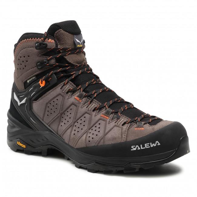Scarpe da trekking SALEWA - Ms Alp Trainer 2 Mid Gtx GORE-TEX  61382-7512 Wallnut/Fluo Orange 7512
